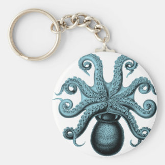 Octopus in Teal Key Chain