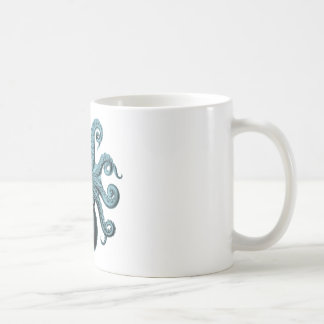 Octopus in Teal Classic White Coffee Mug