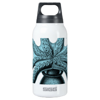 Octopus in Teal 10 Oz Insulated SIGG Thermos Water Bottle