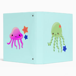 octopus jelly 3 ring binder