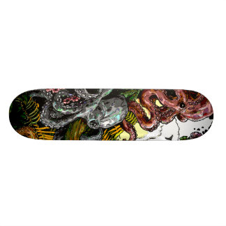 octopus jungle skateboard deck