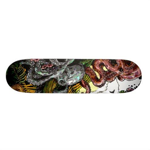 octopus jungle skateboard deck