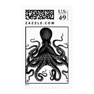 Octopus Kraken Mail - Victorian Cthulu Express Stamp