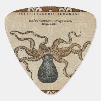 Octopus Kraken vintage Print illustration Art Guitar Pick