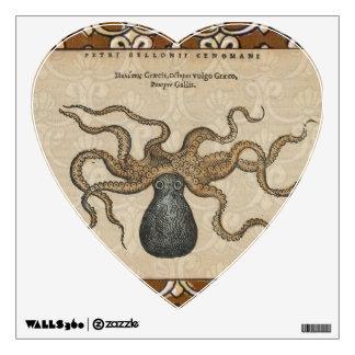 Octopus Kraken vintage Print illustration Art Wall Sticker