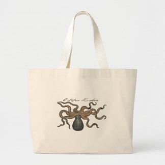 Octopus Kraken vintage scientific drawing Large Tote Bag