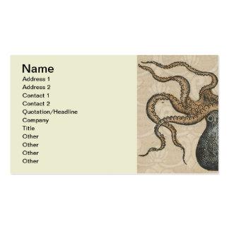Octopus Kraken vintage scientific illustration Business Card