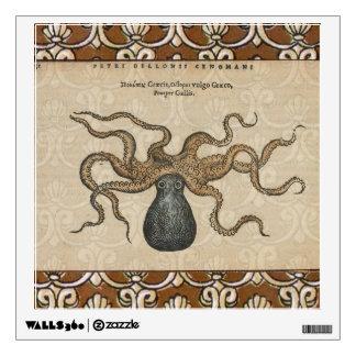 Octopus Kraken vintage scientific illustration Wall Sticker