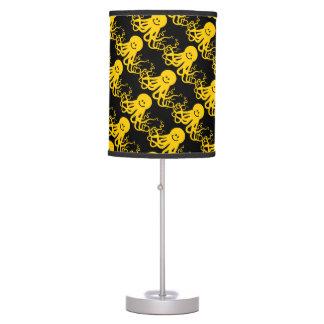 Octopus / Kraken Yellow Smiley Desk Lamp