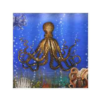 Octopus Lair - Colorful Gallery Wrap Canvas