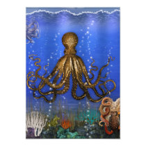 Octopus' Lair - Colorful Card