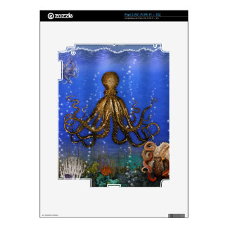 Octopus' Lair - Colorful iPad 2 Skin