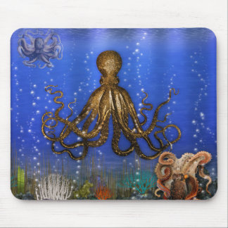 Octopus' Lair - Colorful Mouse Pad