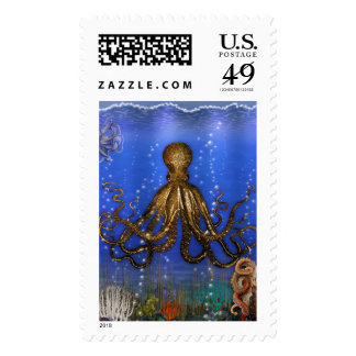 Octopus' Lair - Colorful Postage