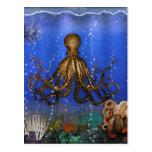 Octopus' Lair - Colorful Postcard