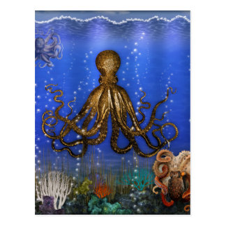 Octopus' Lair - Colorful Postcard