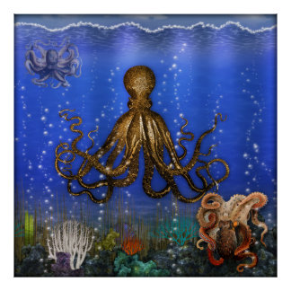 Octopus Lair - Colorful Poster