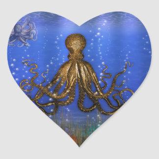 Octopus' Lair - Colorful Heart Sticker
