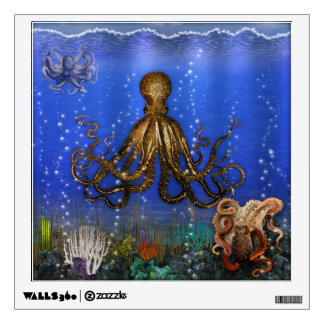 Octopus Lair - Colorful Room Decal