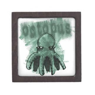 octopus light green keepsake box