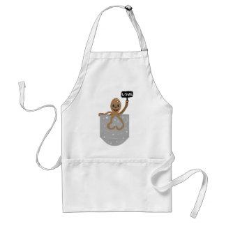 Octopus love adult apron