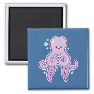 Octopus Loves You Fridge Magnet