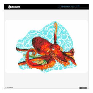 octopus macbook air skin