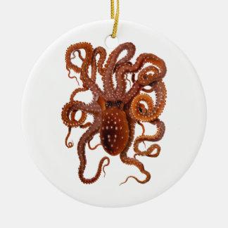 Octopus Macropus Atlantic White Spotted Octopus Ceramic Ornament
