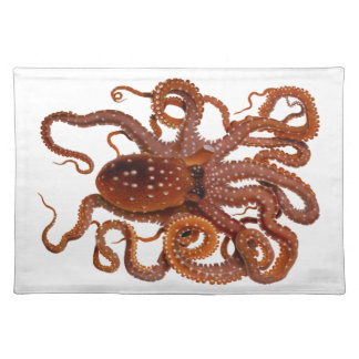 Octopus Macropus Atlantic White Spotted Octopus Cloth Placemat