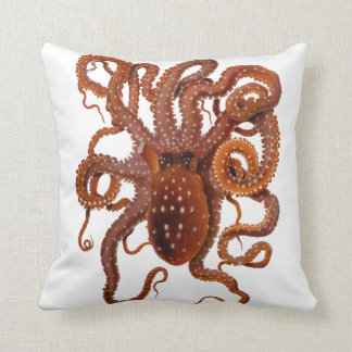 Octopus Macropus Atlantic White Spotted Octopus Throw Pillow