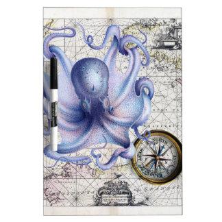 Octopus Map Nautica Dry Erase Board