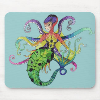 Octopus Mermaid mousepad
