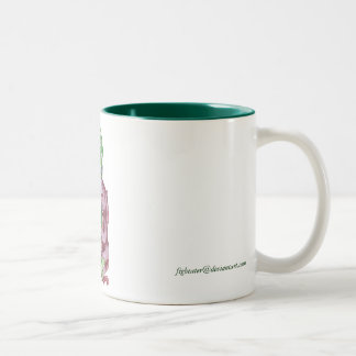 Octopus Mermaid Two-Tone Coffee Mug