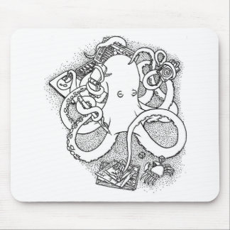Octopus multi-tasking mouse pad