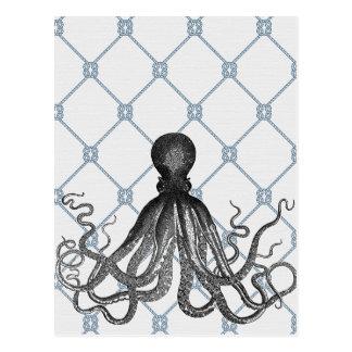 Octopus  - Nautical Postcard