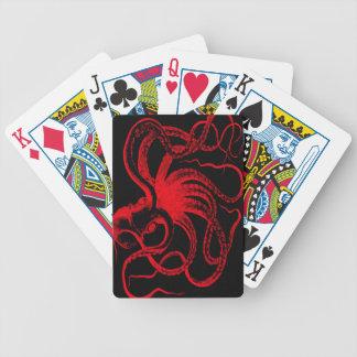 Octopus Nautical Steampunk Vintage Kraken Monster Bicycle Playing Cards