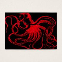 Octopus Nautical Steampunk Vintage Kraken Monster Business Card