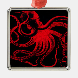 Octopus Nautical Steampunk Vintage Kraken Monster Metal Ornament