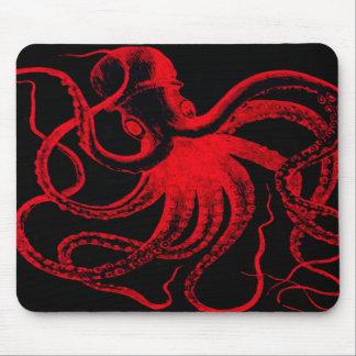 Octopus Nautical Steampunk Vintage Kraken Monster Mouse Pad