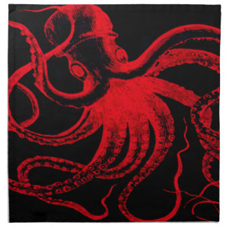 Octopus Nautical Steampunk Vintage Kraken Monster Napkin