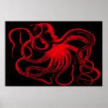 Octopus Nautical Steampunk Vintage Kraken Monster Poster