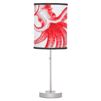 Octopus Nautical Steampunk Vintage Kraken Monster Table Lamp