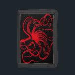 "Octopus Nautical Steampunk Vintage Kraken Monster Trifold Wallet<br><div class=""desc"">Vintage Octopus print</div>"