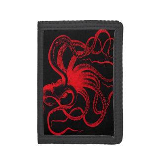 Octopus Nautical Steampunk Vintage Kraken Monster Trifold Wallet