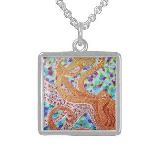 Octopus Square Pendant Necklace