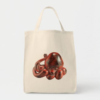 Octopus Netsuke Grocery Tote Grocery Tote Bag