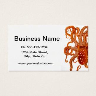 Octopus No.6 Cephalopod Sea Creature Art Business Card