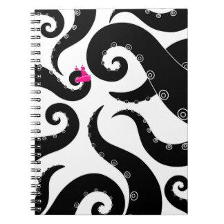 Octopus Spiral Notebooks