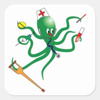 Octopus Nurse Square Sticker