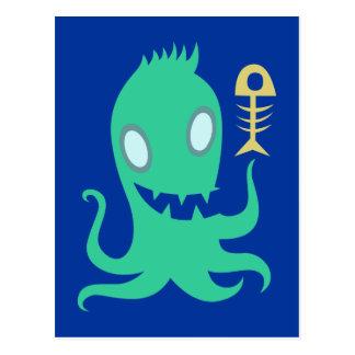 Octopus Oktopus pulpo kraken Postales